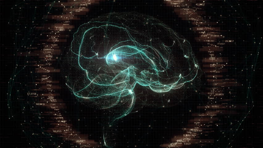 Futuristic Brain Scan. 4K UHD animation | Shutterstock HD Video #1010930456