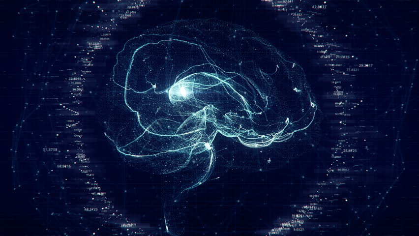 Futuristic Brain Scan. 4K UHD animation | Shutterstock HD Video #1010930465