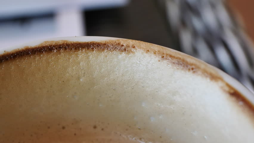 Coffee stain on edge of cup | Shutterstock HD Video #1010968550