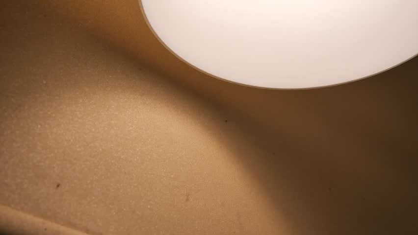 Light lamp and sunshade interior decoration room, close-up scene   Shutterstock HD Video #1010968562