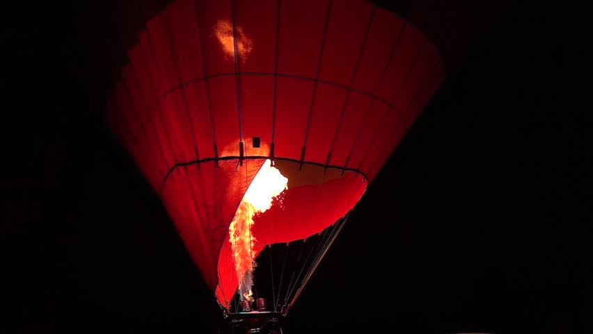 Cappadocia hot air balloon slow motion fire detail | Shutterstock HD Video #1010993321