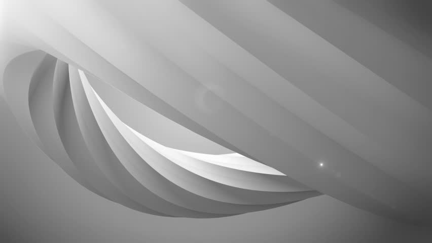 Abstract grey background with spinning 3D object #1011028460