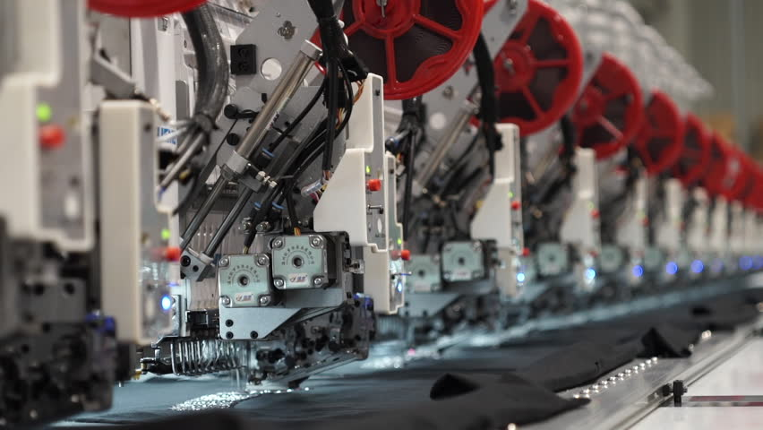 Embroidery Machine - Textile Industry | Shutterstock HD Video #1011030620
