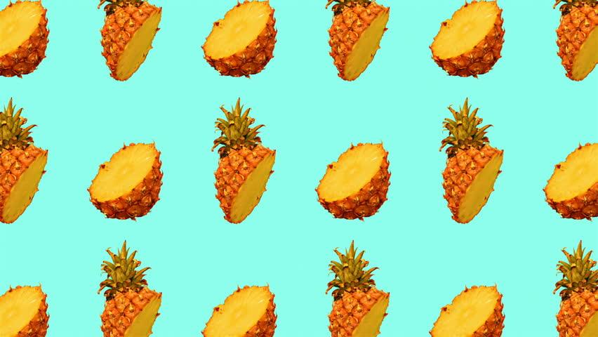 Motion fashion art. Pineapple pattern.