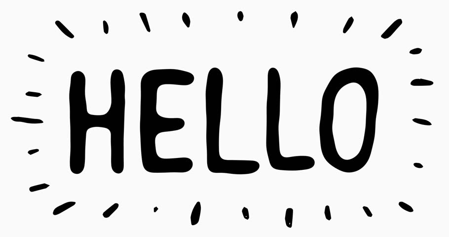 Hello Letters Scribble Animation Doodle Stock Footage Video (100 ...
