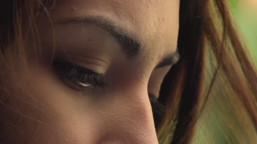 Close up on  sad and depressed  young woman's eyes | Shutterstock HD Video #1011042353