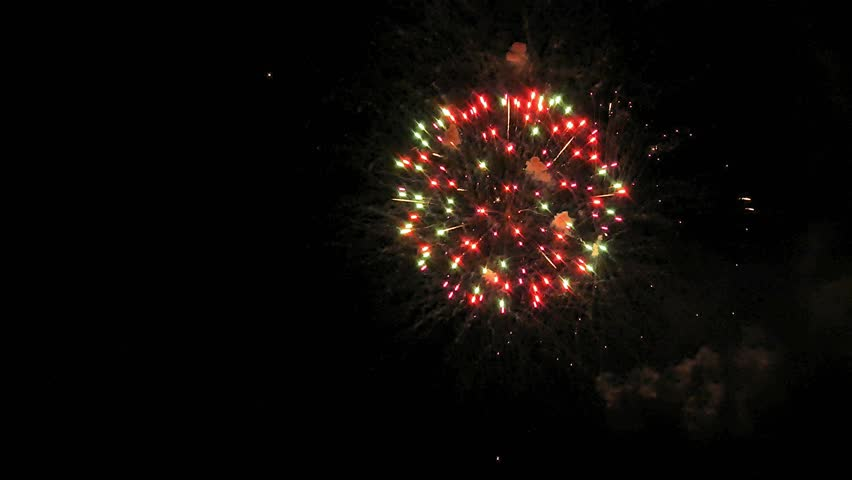 Fireworks light up the sky with dazzling display 4k | Shutterstock HD Video #1011046667