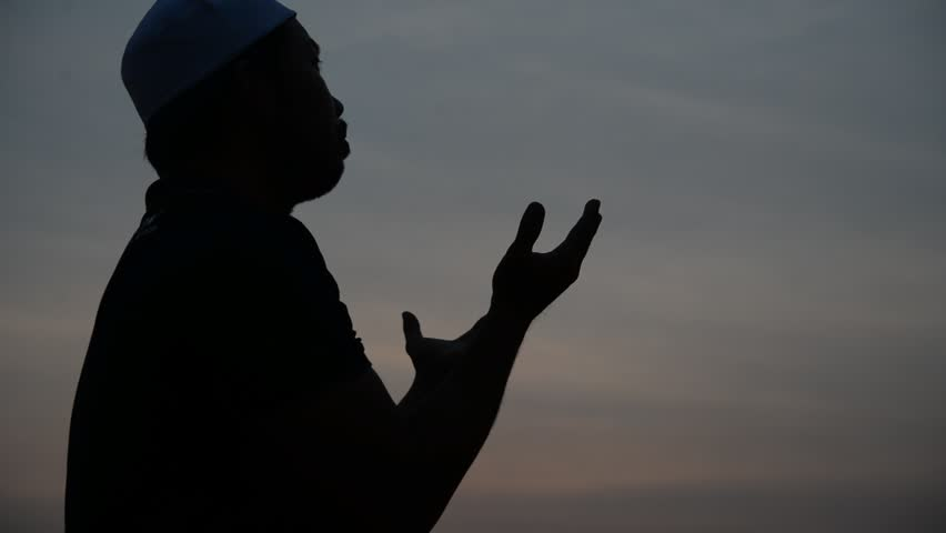 Young asian muslim man praying on sunset,Ramadan festival concept,Thailand people,Blessings from the Allah, | Shutterstock HD Video #1011049091