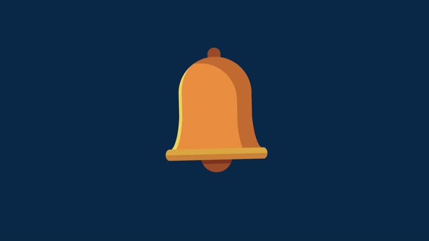 Bell ringing symbol HD animation   Shutterstock HD Video #1011058325
