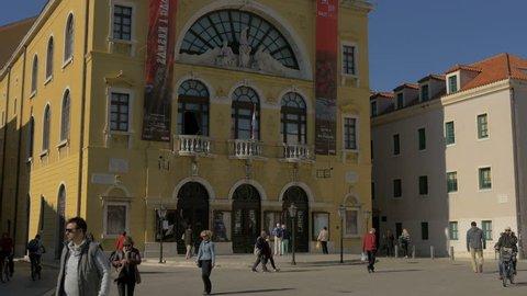 Split - April, 2016: The Croatian National Theatre in Split.