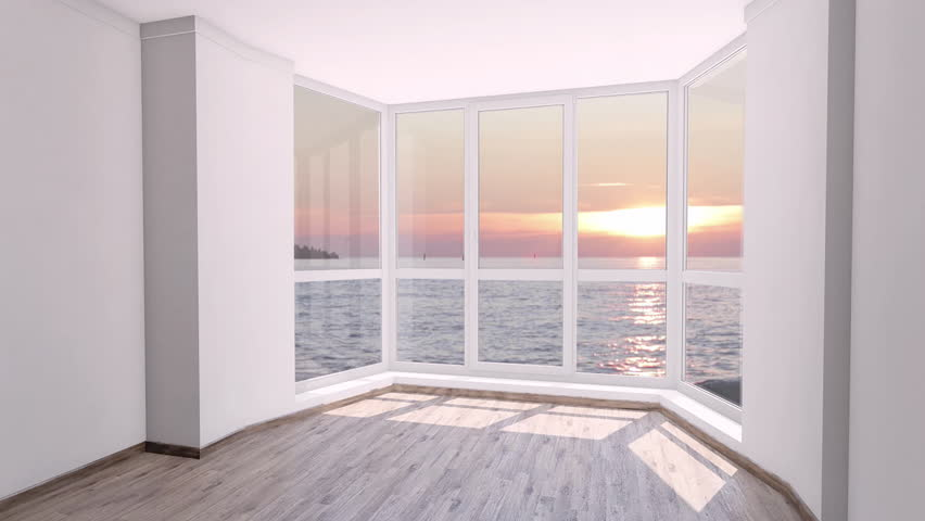 Empty Room with Big Window Stock Footage Video (100% Royalty-free) 1011173999  Shutterstock