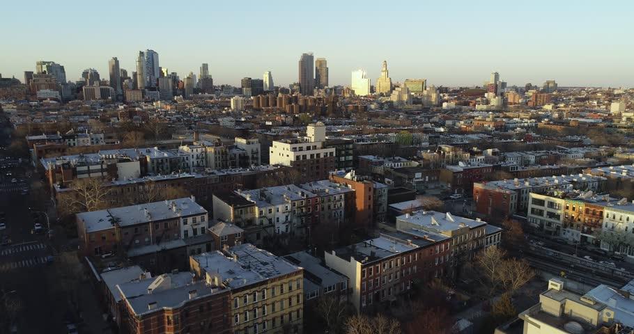 Aerial drone footage of Brooklyn, New York | Shutterstock HD Video #1011185126