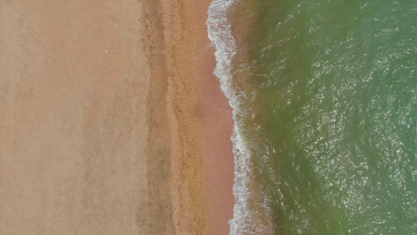 Top view of the sea beach | Shutterstock HD Video #1011199649