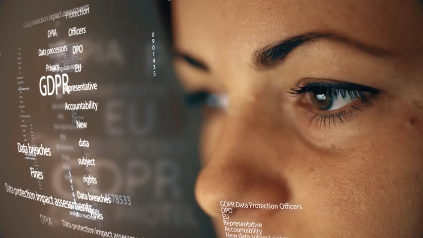 General data protection, female engineer, GDPR stock video 4K Royalty-Free Stock Footage #1011200948