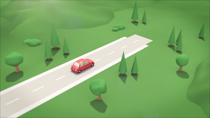 Driving through an isometric style self building town.   Shutterstock HD Video #1011228143