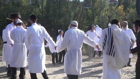 October 3, 2016. Uman, Cherkasy region, Ukraine. Celebrating Rosh Hashanah in Uman. 5777 Jewish New Year.
