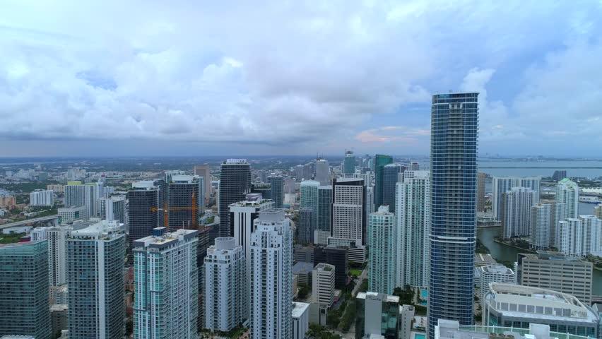 Drone aerial Miami Brickell 4k | Shutterstock HD Video #1011231443