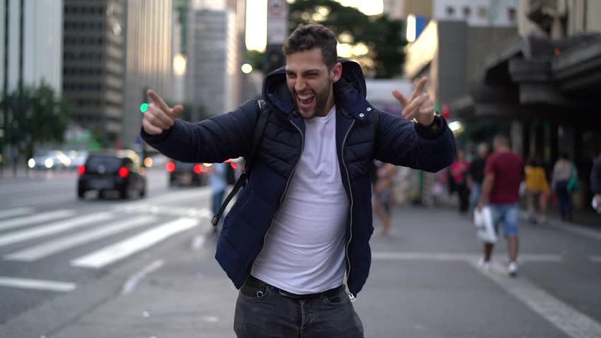 Guy Dancing at Street