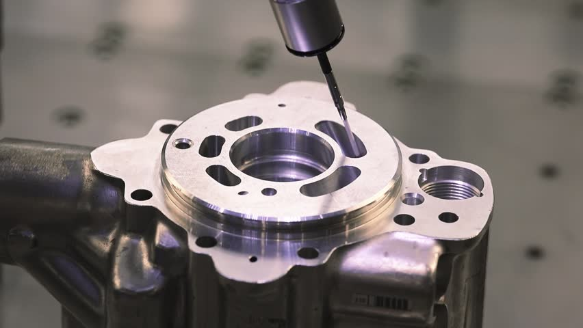 Operator inspection dimension metal parts by CMM after machining process in industrial factory. Royalty-Free Stock Footage #1011250985