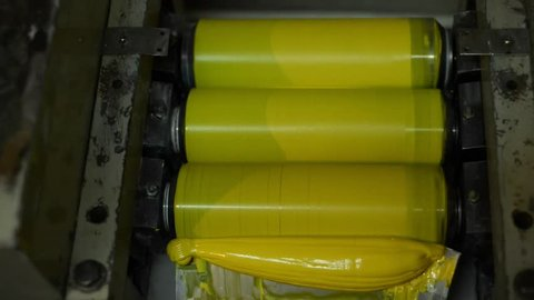 Process of making yellow paint by mill