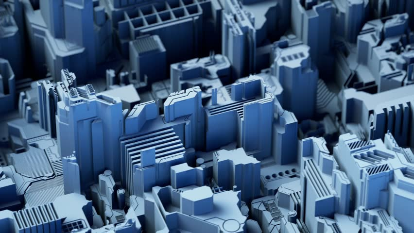 Abstract technological background made of different element printed circuit board and flares blue color. 3d rendering 4K | Shutterstock HD Video #1011440969