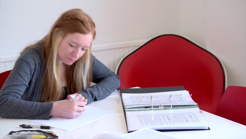 Student creates a mind map while revising Royalty-Free Stock Footage #1011483848