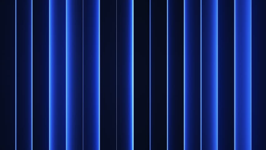 Glowing blue vertical lines. Seamless loop abstract motion background. 3D render of neon lights 4k UHD 3840x2160 #1011499472