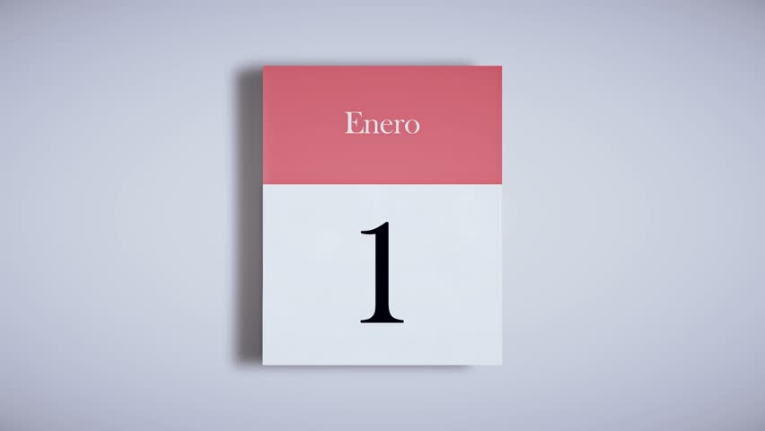 Spanish annual calendar / Fast pahe flipping animation