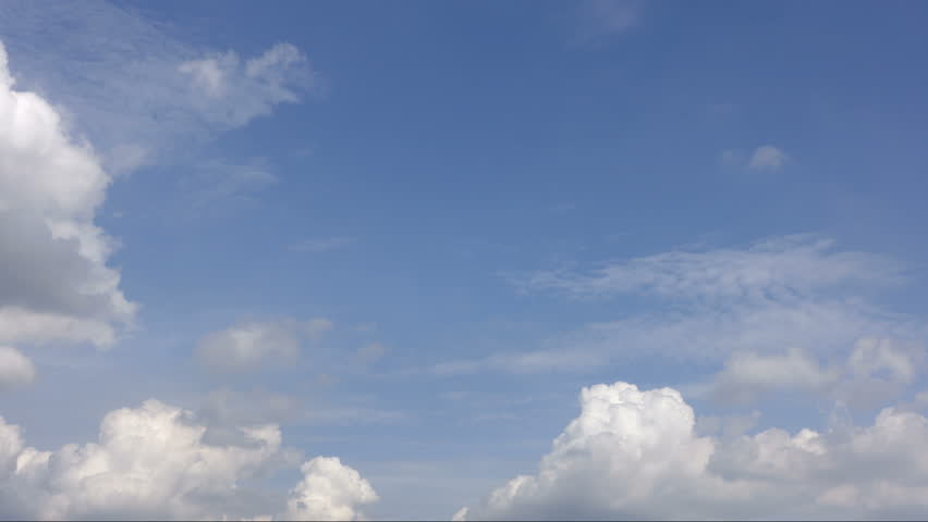 Time lapse of white clouds over blue sky. | Shutterstock HD Video #1011566033