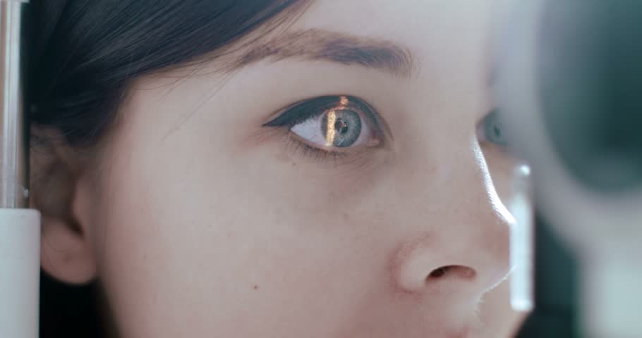 Scanning the retina among women with green eyes special ophthalmic device