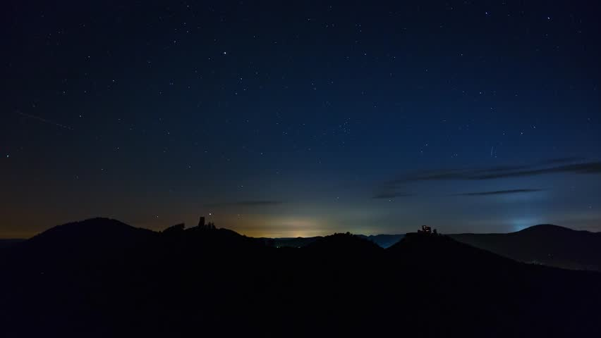 Night to Day Time Lapse In The Hills 4K