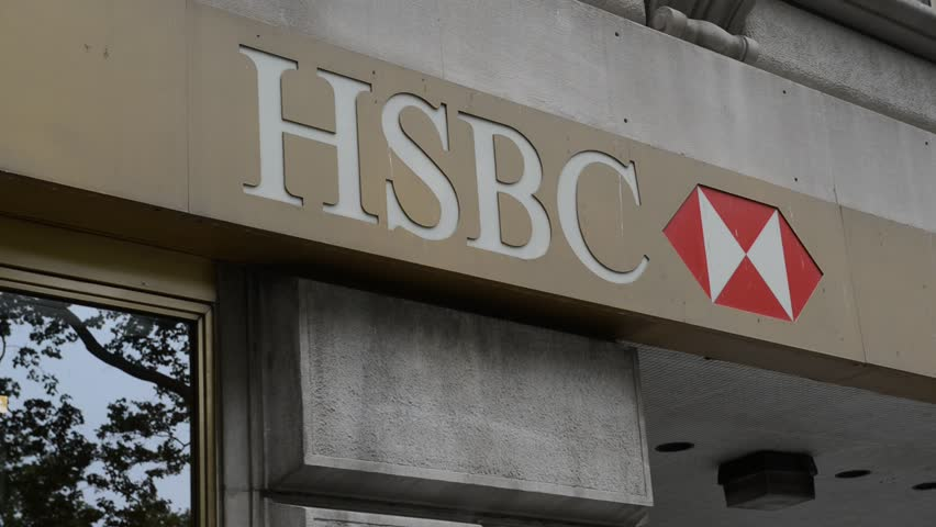 NEW YORK - CIRCA MAY 2018. Many foreign domiciled financial institutions such as HSBC have regional offices in New York to have a presence in the United States of America.