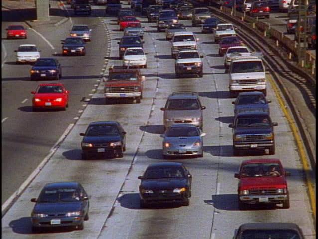 LOS ANGELES, 1999, Freeway traffic Los Angeles