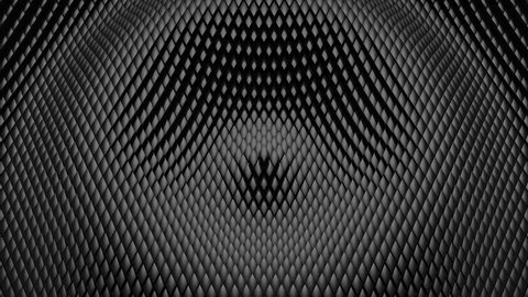 Rhombuses Formed A Wave. Abstract background, 2 in 1, loop