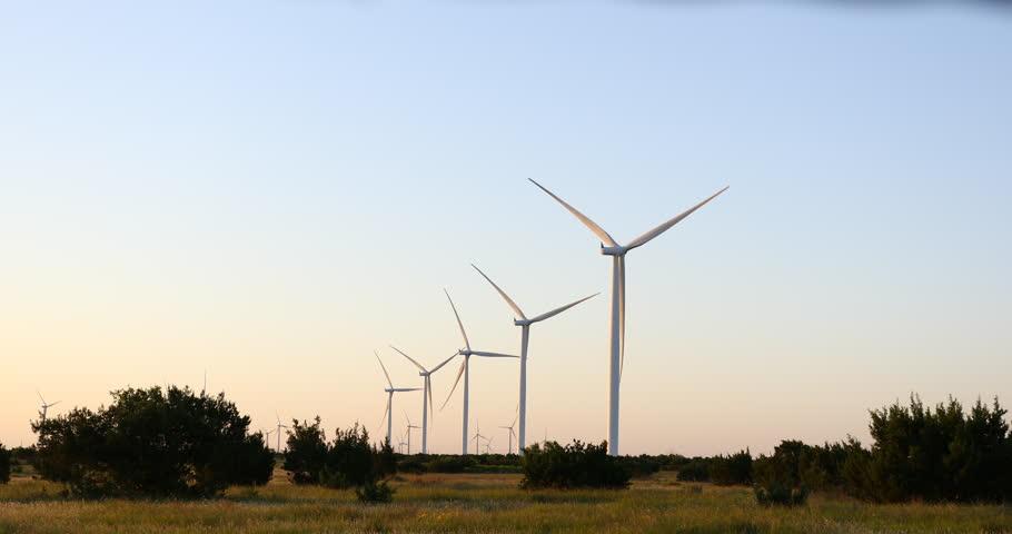 Wind Turbines near Bronte / Abilene Texas.   Shutterstock HD Video #1011759125