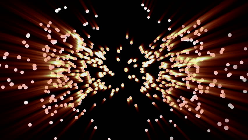 Flaming radiant particles on black background, 3D animation. | Shutterstock HD Video #1011772622