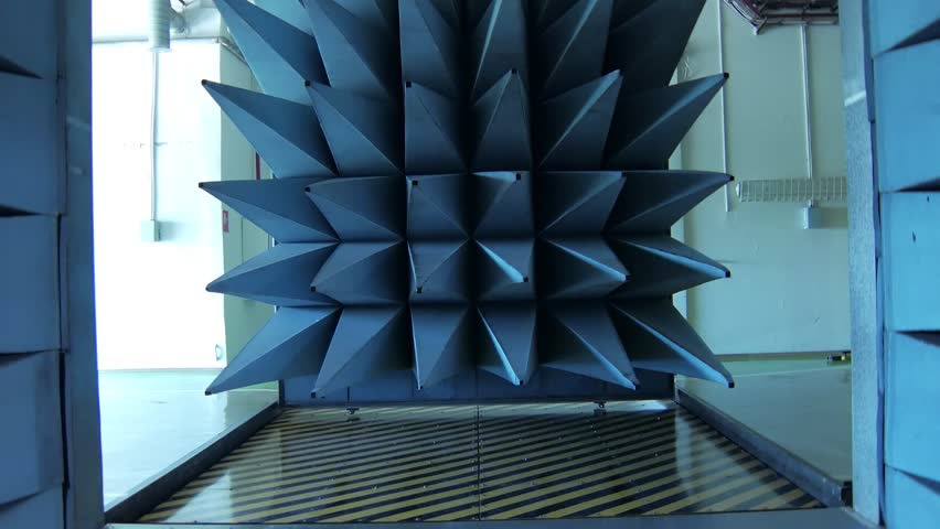 automatically closing door of radio-frequency anechoic chamber Royalty-Free Stock Footage #1011796652