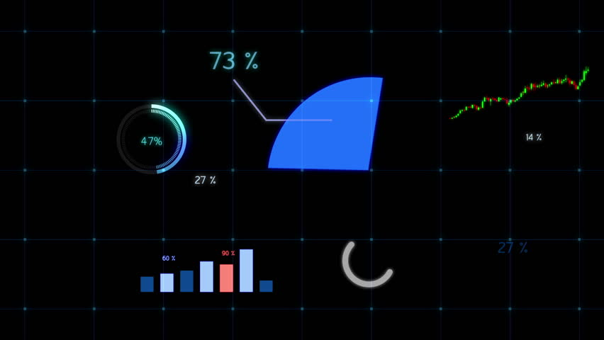 Growing chart in blue tone. Financial figures and diagrams showing increasing profits graph.   Royalty-Free Stock Footage #1011826160