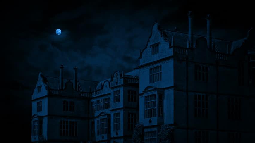 Country Estate On Windy Night | Shutterstock HD Video #1011832808