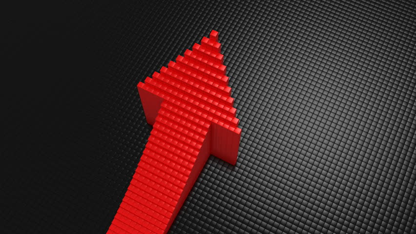 Boxes Formed A Arrow. Black background, 3 in 1, created in 4K, 3d animation | Shutterstock HD Video #1011849602