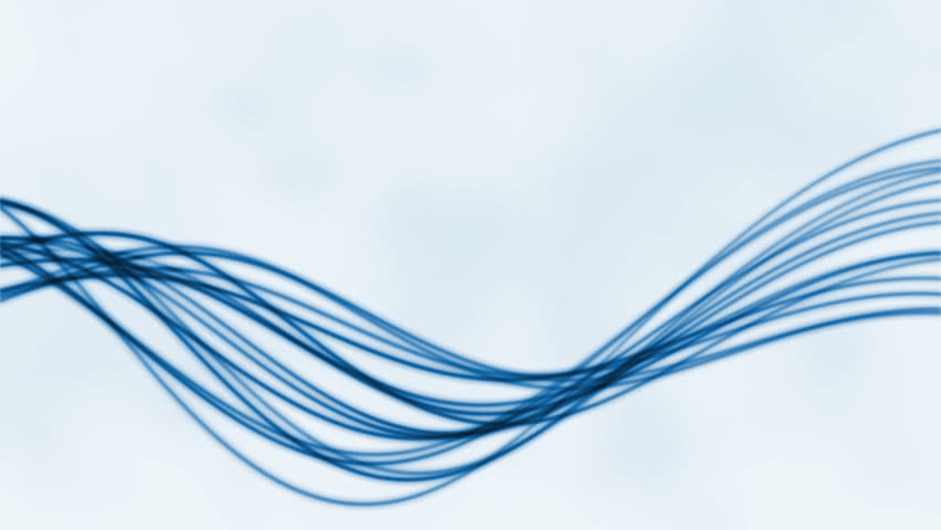 Abstract flowing lines against white, loop | Shutterstock HD Video #1011865