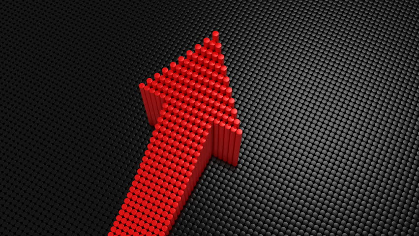 Cylinders Formed A Arrow. Black background, 3 in 1, created in 4K, 3d animation | Shutterstock HD Video #1011873683