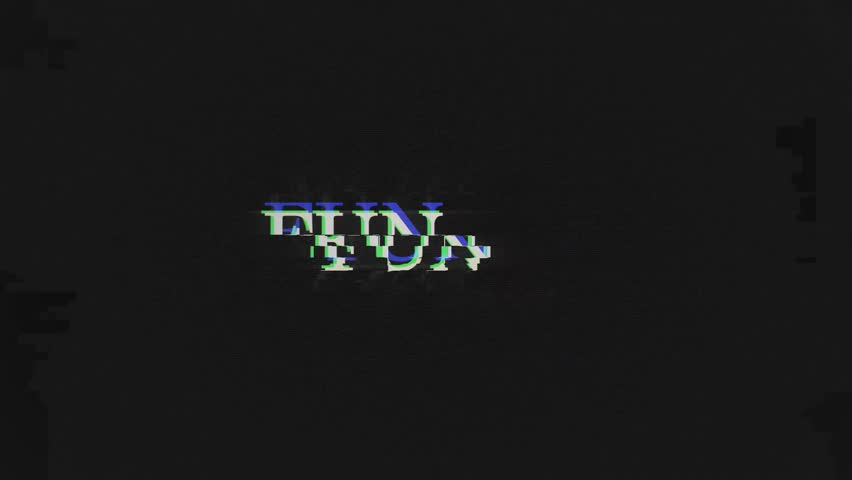 FUN. retro videogame press start text words on old tv vhs glitch interference screen ... New quality universal vintage motion dynamic animated background colorful joyful cool video footage | Shutterstock HD Video #1011879458