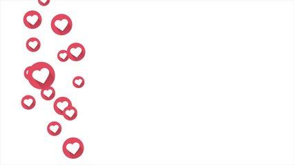 Social love heart icon animation with optional luma matte. Alpha Luma Matte included. 4k video