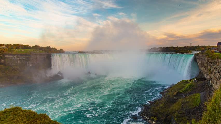 Incredible Niagara Falls Day to Night Sunset Time Lapse