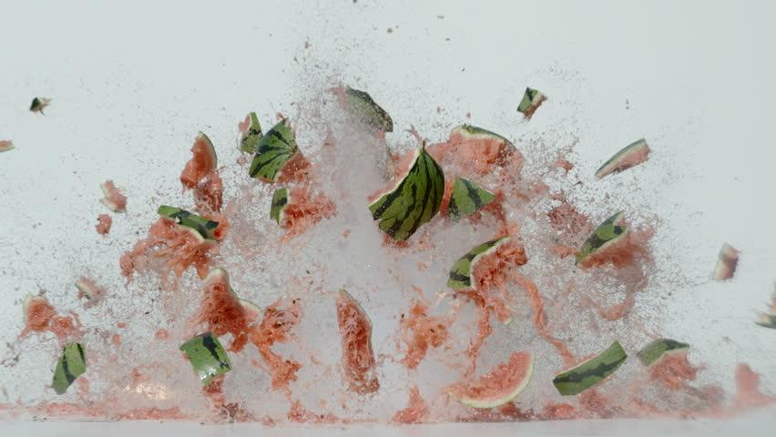 Watermelon explosion, Ultra Slow Motion | Shutterstock HD Video #1011944000