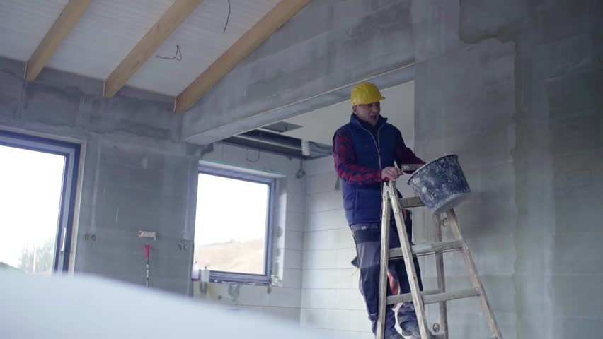 Accident of a man worker at the construction site. | Shutterstock HD Video #1011945509