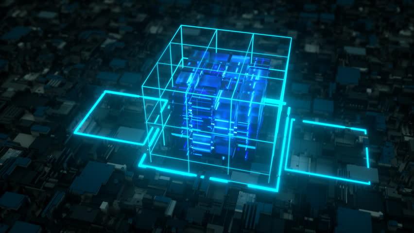 AI deep learning computer. 4K UHD. Seamless looping | Shutterstock HD Video #1011954578