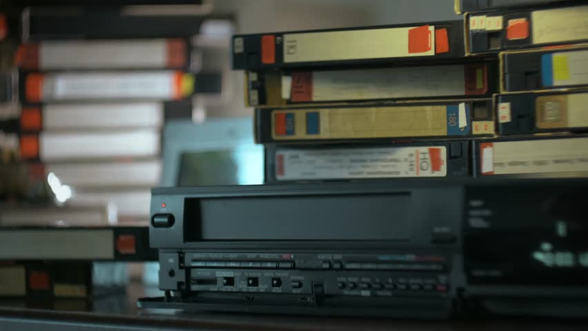 hand inserted VHS into the VCR