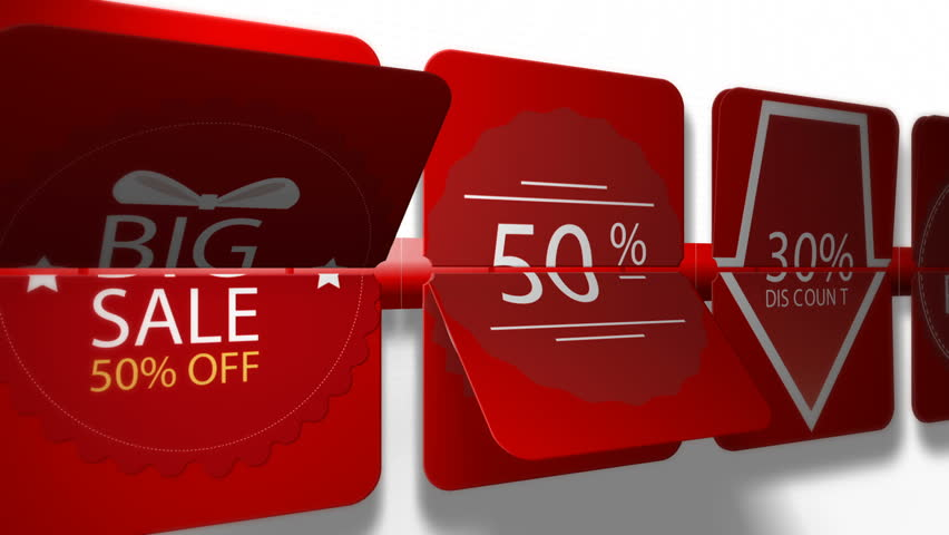 Sales promotional animation video with the inscription Mega Sale. Big sale, hot sale, best price, low price, discounts.